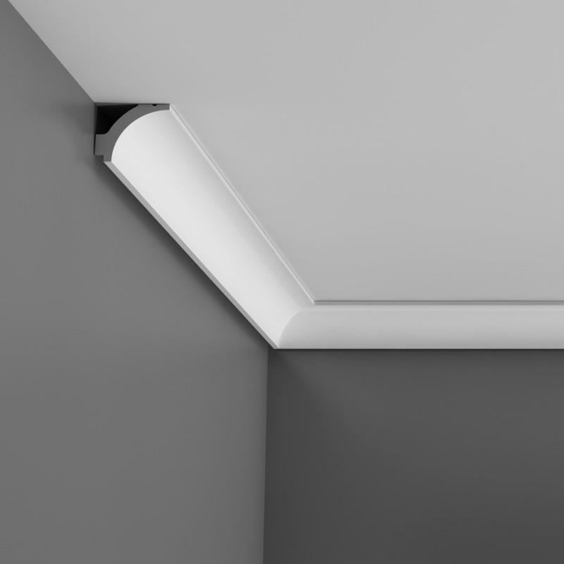 пластиковый потолочный плинтус под натяжной потолок